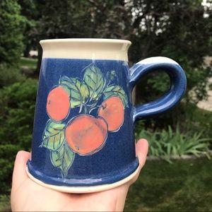Studio pottery mug hand thrown